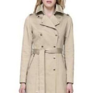 New Soia &Kyo Oatmeal trench coat rain coat SMALL